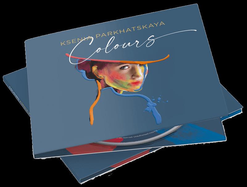 """Ksenia Parkhatskaya """"Colours"""" album cover CD mockup"""